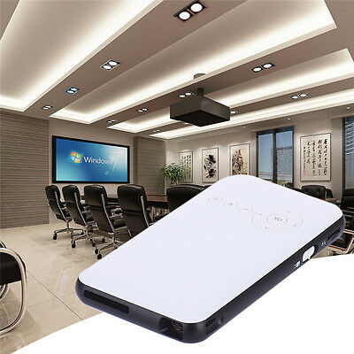 HD 1080P MiNi LED DLP WIFI NEW BLUETOOTH POCKET PROJECTOR HOME CINEMA USB 4Y1E