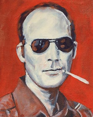 HUNTER s thompson limited edition numbered art print 8.5x11 #23/100