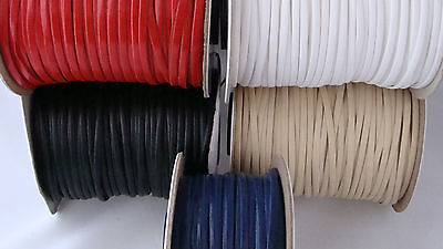 2M Faux Leather Flat Cord Necklace String Thong Lace Craft Beads 3mm wide