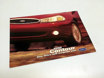 1998 Ford Contour Redesign Launch Preview Brochure