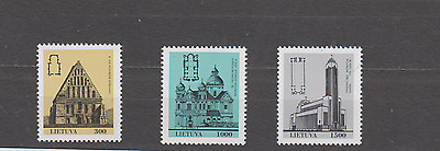 Lithuania 1993 Churches Set Mint Never Hinged