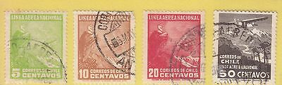 Chile 1931 4 Air Stamps Used