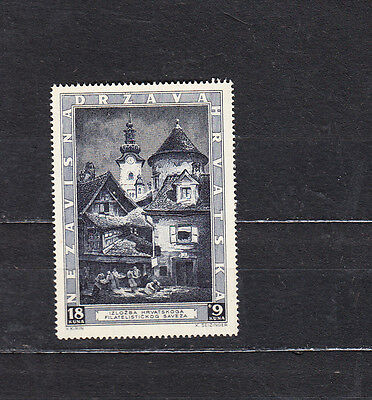 Croatia 1943 Zagreb Philatelic Exhibition Mint Hinged Cat £7+