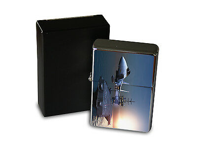 Chrome Windproof Lighter Oil Refillable Military Jet aircraft carrier