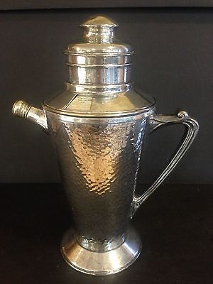 Vintage Hammered Silver Plate Dial a Drink Recipes Cocktail Shaker