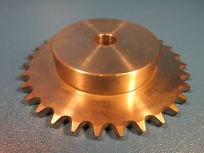 "SS 40B32 5/8"" Straight Bore Sprocket, Stainless Steel (Martin, Browning)"
