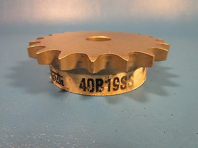 """Martin 40B19SS 5/8"""" Straight Bore, No Keyway 40 Single Strand Chain, Stainless"""