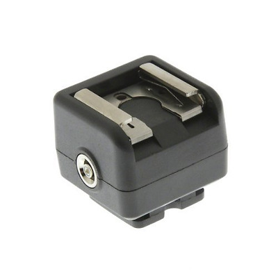 Flash Sync Hot Shoe Adapter for Cameras Without Sync Socket. Connect Flashguns a
