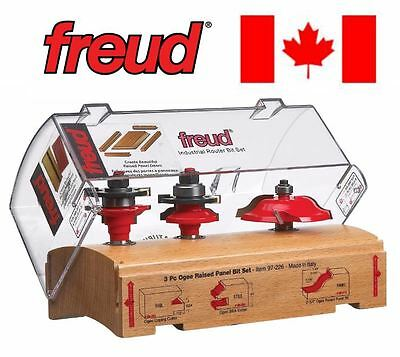 New Freud 97-226 Router Bit 3Pc Set Ogee Cabinet Door Raised Panel Industrial Hq