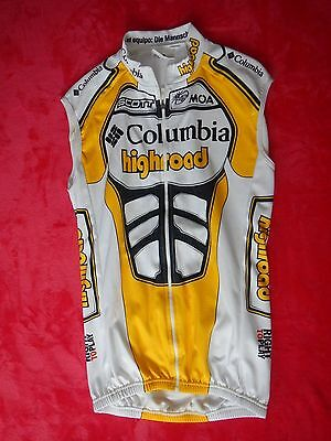 Original UCI Pro Tour Team Columbia Highroad Winter Thermo Weste Größe 4 Rar