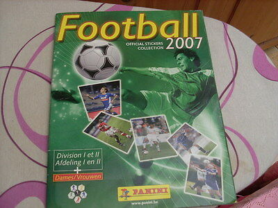 Panini ALBUM STICKERS FOOTBALL football belge 2007 vide Empty rare