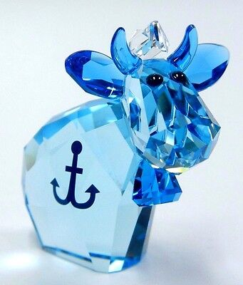 Sailor Mo, Limited Edition Blue Cow 2017 Swarovski Crystal #5270739