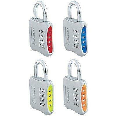 Master Lock Company 653D 4 Pack 2in. Combination Padlock