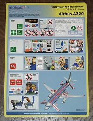 AEROFLOT A-320 Safety card