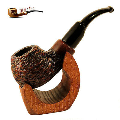 """Mr. Brog HAND MADE  WOODEN  SMOKING PIPE  no 33  """" Boxer """"   Rustic   + Filter"""