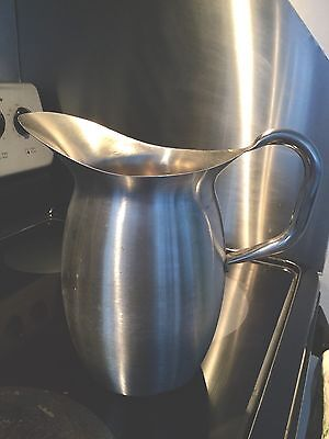 Nice Vtg Stainless Steel Vollrath Large Water Pitcher Jug Medical Army