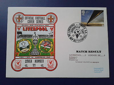 LIVERPOOL v ODENSE BK 1983 Official Football Cover(No11)
