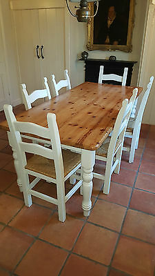 Pine table + 6 chairs