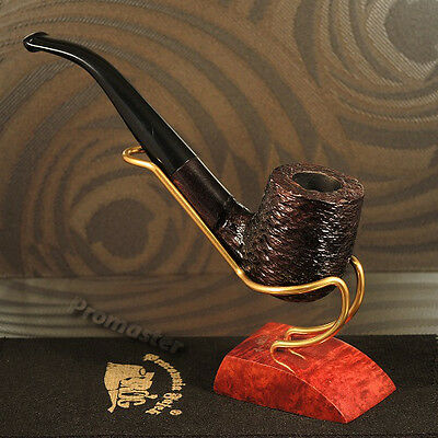 """Mr.Brog HAND MADE WOODEN SMOKING PIPE  no. 38   """" Old Boy """"  Rustic  + Filter"""