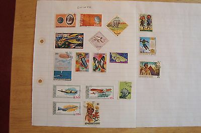 Guinea stamps,selling old collection of 17 stamps, see scans