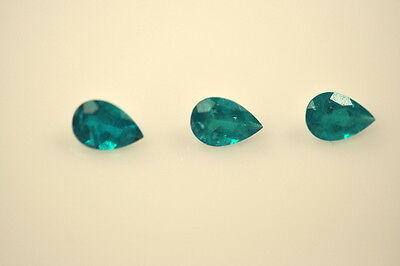 1.0CT NATURAL COLOMBIAN EMERALD LOOSE STONE 6X4mm 3 Matching Pear Shape