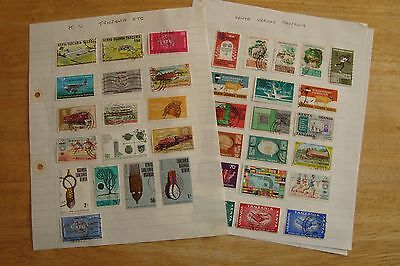 Kenya Uganda Tanzania stamps, selling old collection of 42 stamps, see scans