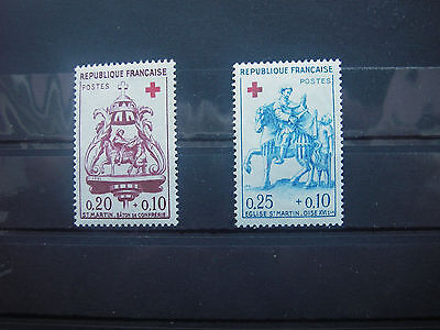 1960   timbre france  croix rouge yt n° 1278/1279   neuf **