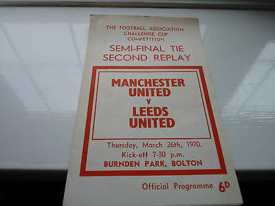 1970 FA Cup Semi-Final 2nd Replay, Manchester United v Leeds United