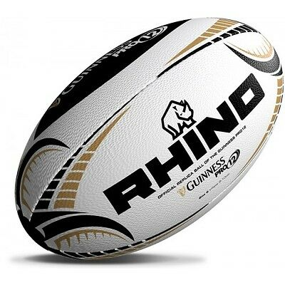 Rhino Guiness Pro 12 Replica Rugby Ball Size 5