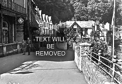 BEVANS HOTEL LYNMOUTH 1930/40s 1/6th PLATE GLASS NEGATIVE 132