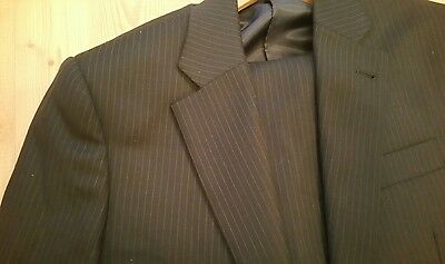 new and lingwood suit size 36 regular blue pinstripe good for wedding