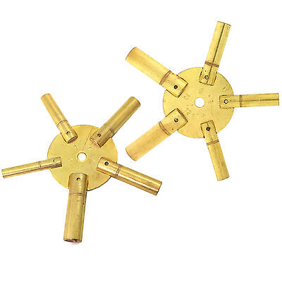 Set of 2 -  Clock Keys for Winding Grandfather Clocks Odd Even Sizes