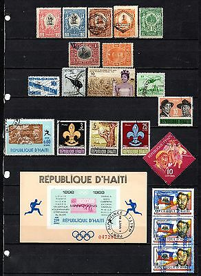 Haiti nice mixed collection from old album,stamps as per scan(2388)