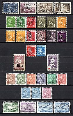 Finland nice 1938-56 collection from old album,stamps as per scan(2390)