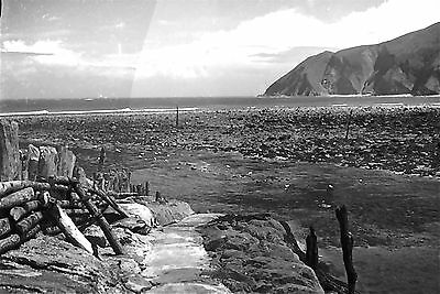 UK LYNMOUTH BAY  1920/30s 1/6th PLATE GLASS NEGATIVE-6th 003