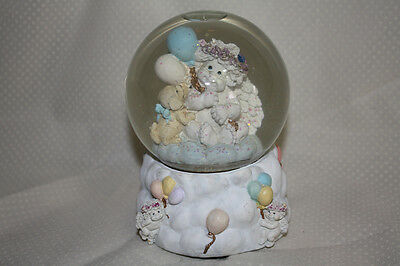 """Cherubs Puppy Dreamsicles """"UP UP & AWAY"""" Large Musical Snow Globe, Westland, 7"""""""