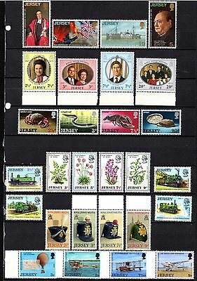 Jersey Unmounted mint sets from old stock book ,stamps as per scan(2291)
