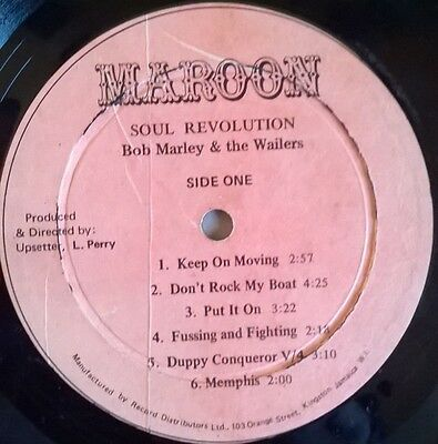 Soul Revolution LP PT 2 Bob Marley & The Wailers