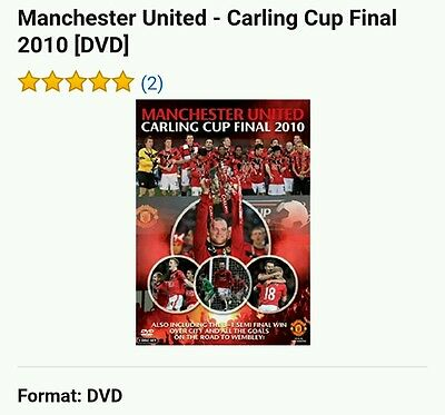 Manchester United Carling Cup Final 2010 Dvd ( 2 disc set ) intact never used