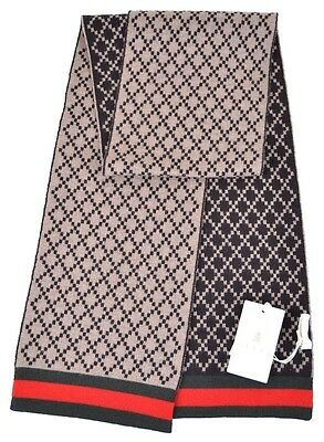 NWT NEW Gucci kids boys girls green with red web diamante scarf 269526