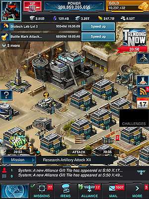 Mobile strike 390 billion power