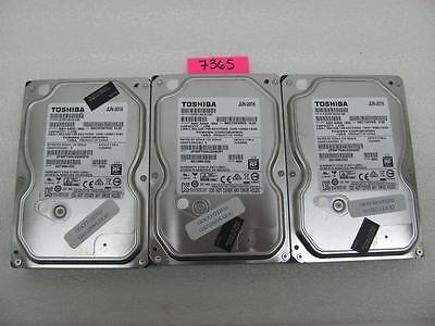 LOT OF 3 Toshiba HDD DT01ACA100 1TB EACH, SATA, 3.5""