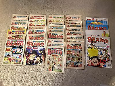 Beano large comic and calendar collection from the 80s and 90s