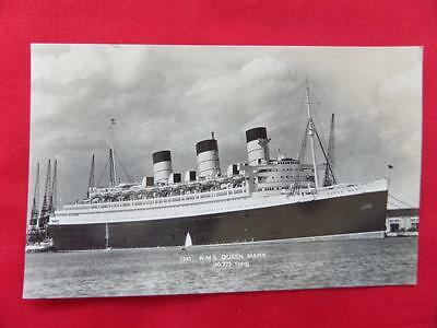 Cunard White Star Liner RMS QUEEN MARY Old Postcard - Real Photo