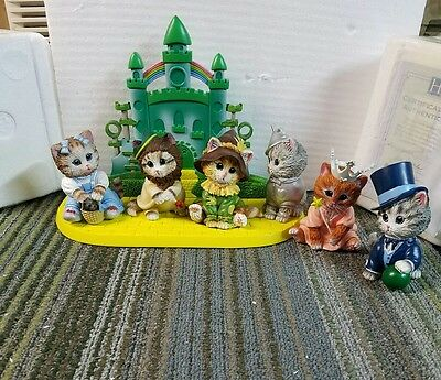 Wizard of OZ Kitten Figurine Collection Hamilton Collection all new
