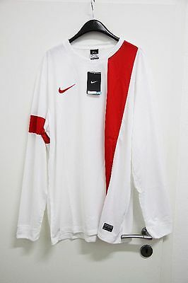 NIKE Herren Langarm Trikot Striker III, White/University Red, Gr. XXL *NEU*