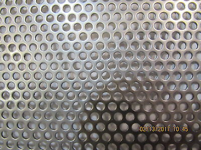 """20 Gauge 304 Stainless Steel Perforated Sheet 1/8"""" Holes---12"""" X 12"""""""