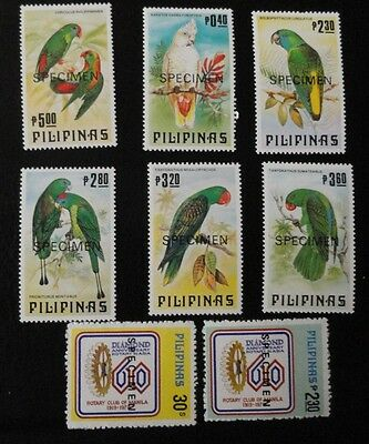 Mint Philippines stamps two sets of specimen stamps
