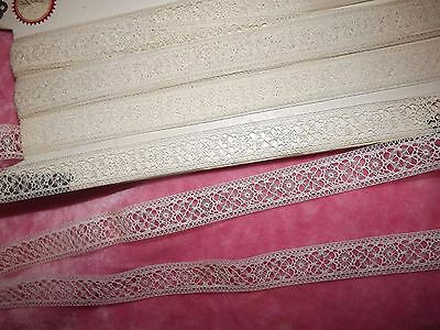 "9.9 yds ANTIQUE Victorian Valenciennes Net Insertion Lace 358"" VINTAGE"