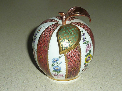Royal Worcester Floral Red Apple Candle Snuffer Connoisseur Collection